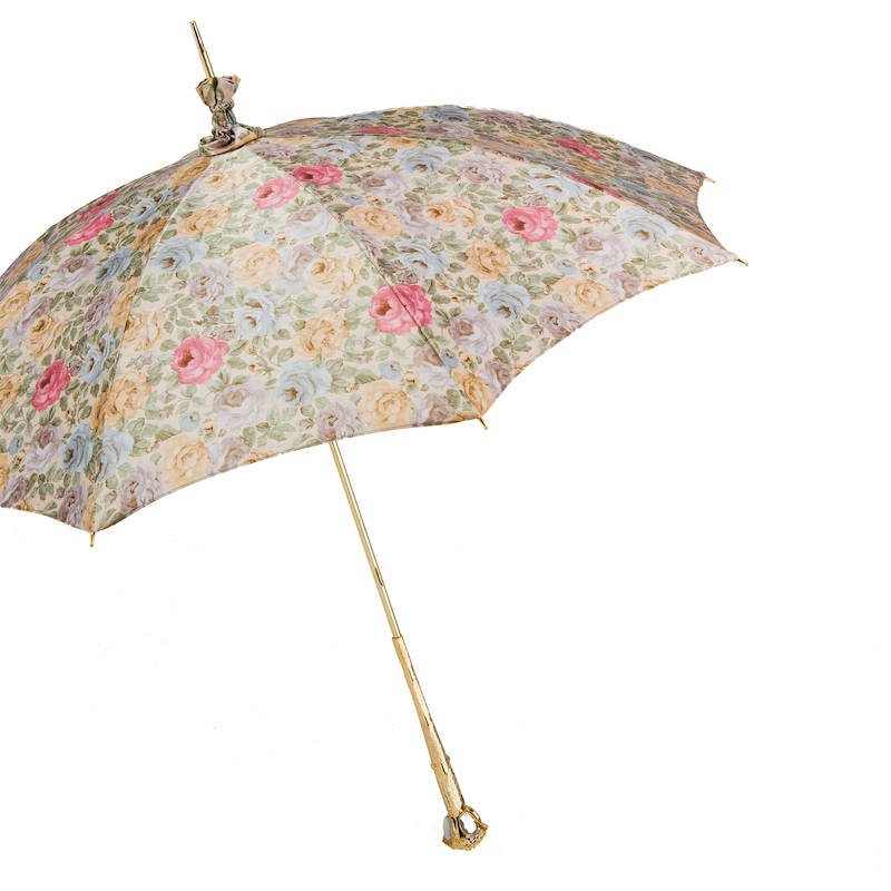 pasotti parasol floreado con apertura manual impermeable parasoles joya. Black Bedroom Furniture Sets. Home Design Ideas