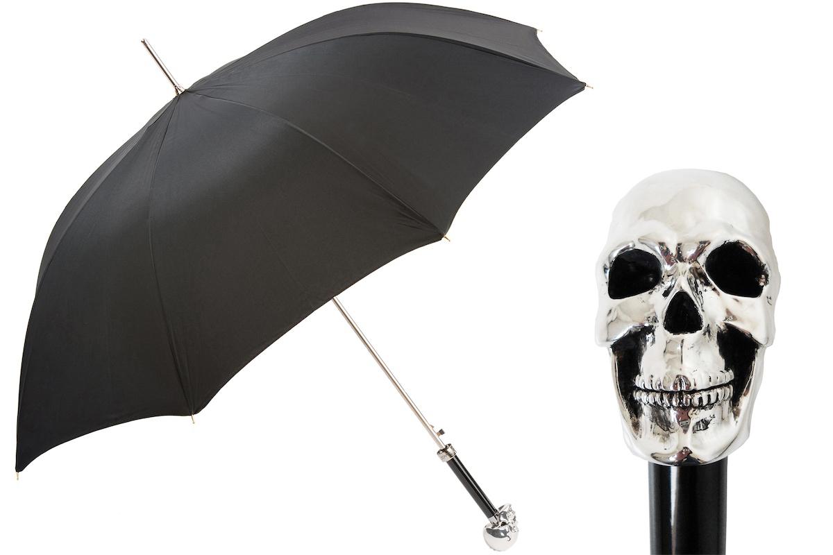 Parapluie manche Tête de Mort Noir