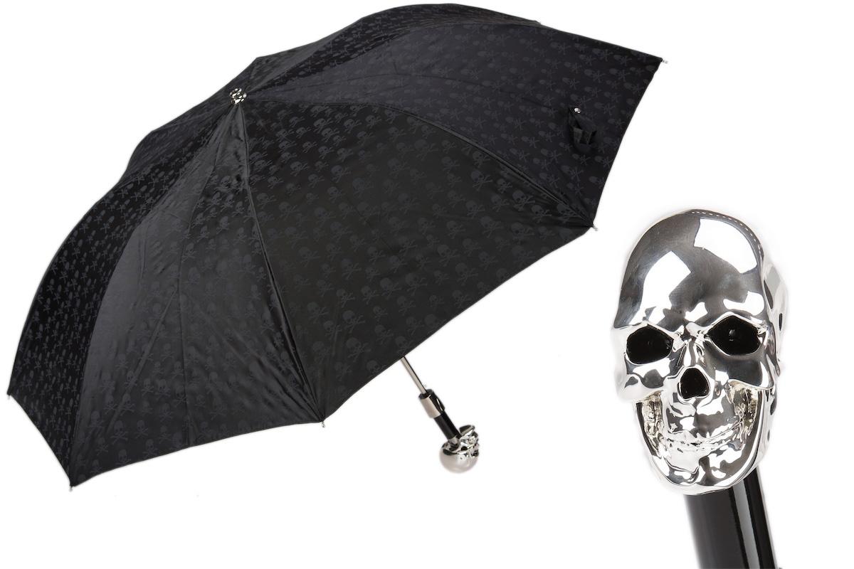 Pasotti Men Skulls Print Silver Skull Umbrella的圖片搜尋結果