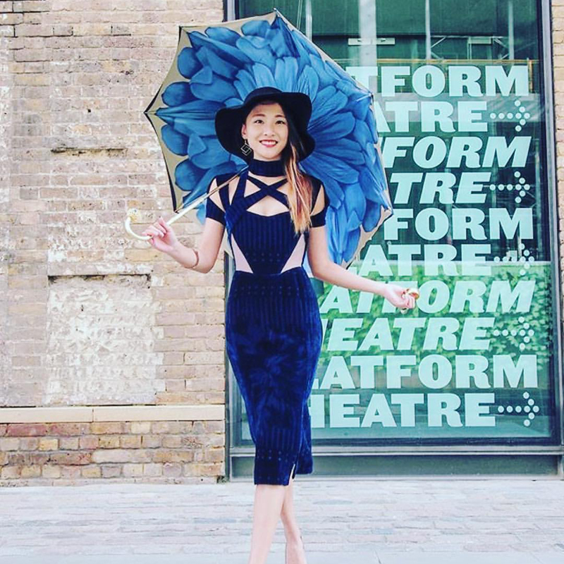 Image result for Pasotti Luxury Blue Dahlia Umbrella, Double Cloth